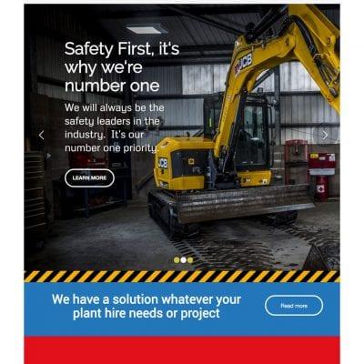 Responsive website design for West Lothian based Mulholland Plant Services.