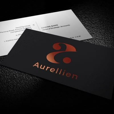 A website design and brand creation project for Glasgow based Aurellien Human Resources.