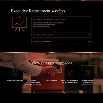 Web designers for Glasgow based Aurellien HR.
