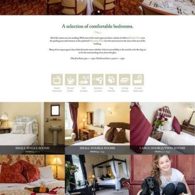 A website design for Coul House Hotel, near Inverness.