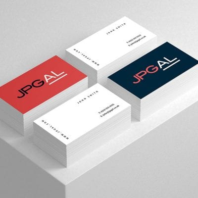 Logo design and core brand materials for Manchester based consultancy firm JPGAL.