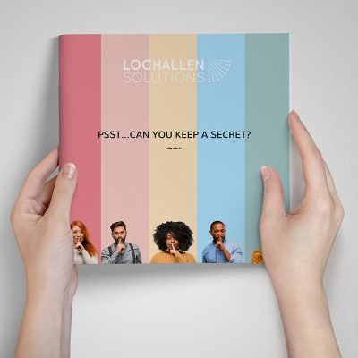 Brochure design with a difference for Edinburgh based Lochallen Solutions.